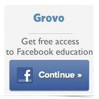Learn how touse Facebook pages on Grovo.com