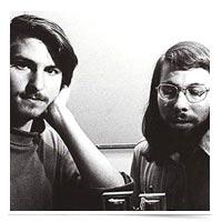Young Steve Jobs and Steve Wozniak