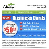 Check out Oakley's business card store!
