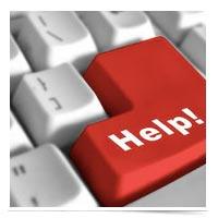 Image of HELP key on keyboard.