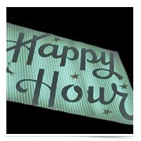 Image of Happy Hour sign.