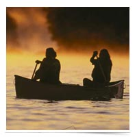 Image of couple in a canoe.