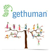 Image of Get Human logo above human phone tree.