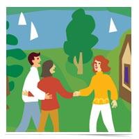 Image of illustrated neighbors.