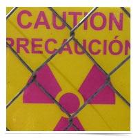 Image of radioactive warning sign.