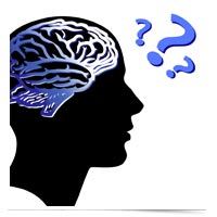 Image of brain puzzling over questions.