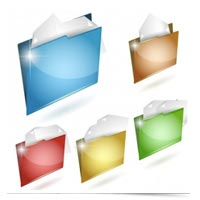 Image of colored digital folders