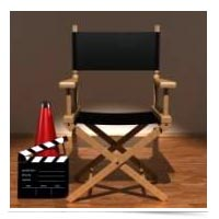 Image of movie set chair.
