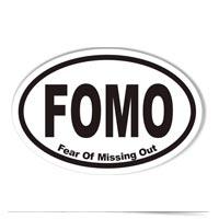 Image of FOMO sticker.
