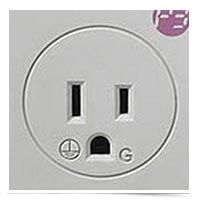 Image of surprised power socket.