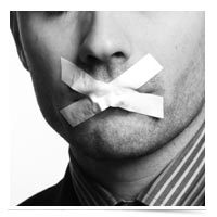 Image of one silent mouth.