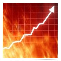Image of hot market graphic.
