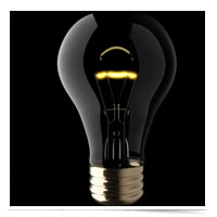 Image of idea light bulb.