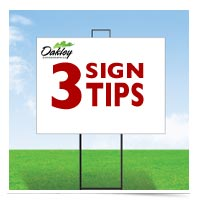 Image of sign tips