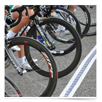 Image of bikes at the starting line