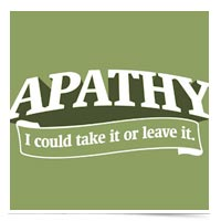 Image of Apathy Saying