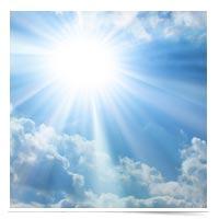 Image of the sun's glow
