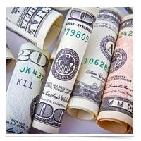 Rolls of cash