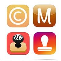 Watermarking app logos