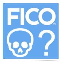 FICO logo with skull