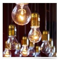 Many lightbulbs.