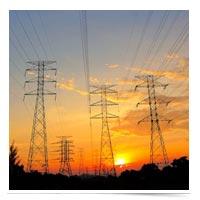 Power transmission lines.