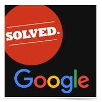 Google solved logo.