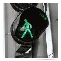 Green walk signal.