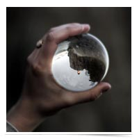 Looking into a crystal ball.