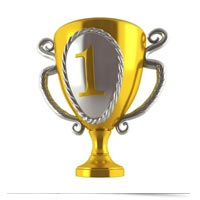 Gold trophy.