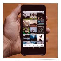Instagram app with photos.