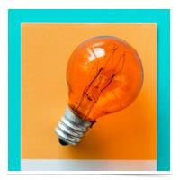 Light bulb idea.