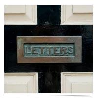 Letter slot.