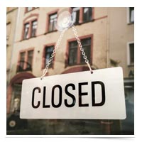 Closed sign.
