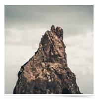 Rock standing tall.