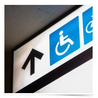 Wheelchair accessible directional.