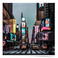NYC streetscape.