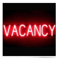 Neon vacancy sign.