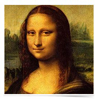 Painting of the Mona Lisa.