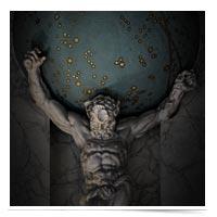 Atlas holding up the heavens.