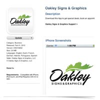 The Oakley Signs & Graphics iPhone/iPad App