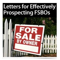 Letters for Effectively Prospecting FSBOs
