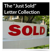 Just Sold Letters for Real Estate from My Real Helper